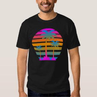 Palmiers de coucher du soleil de tigre de Corey Tshirts