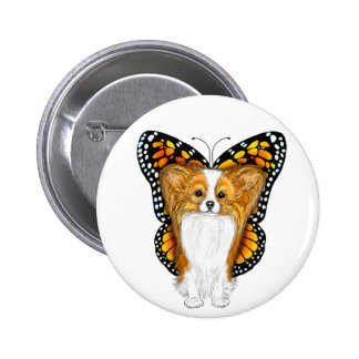 Papillon in Disguise 2 Inch Round Button