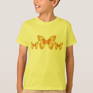 Papillon orange et jaune tee-shirts