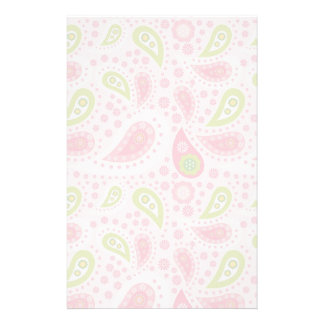 Parade of Pink Paisley Stationery Paper