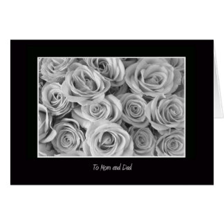Parents Mom and Dad Wedding Thank You Card