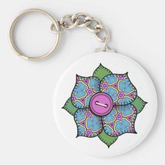 Patchwork Flower - 020 Basic Round Button Keychain
