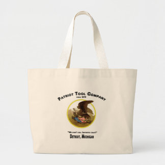 Patriot Tool Company, We don't sell imported crap! Jumbo Tote Bag