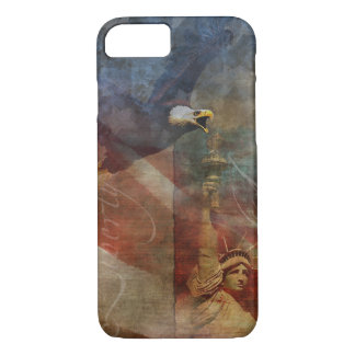 Patriotic iPhone 7 Shell with Bald Eagle Art iPhone 7 Case