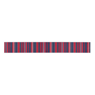 Patriotic Red and Blue Striped Ribbon Grosgrain Ribbon