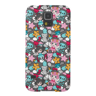 Pattern with kawaii doodle galaxy s5 cover