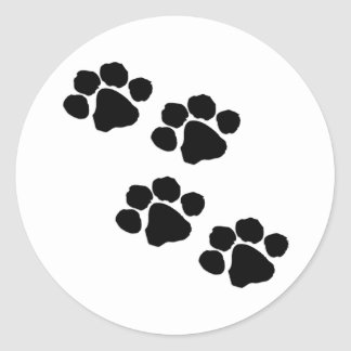 Paw Prints Round Sticker