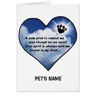 Pawprint Memorial Poem Greeting Card