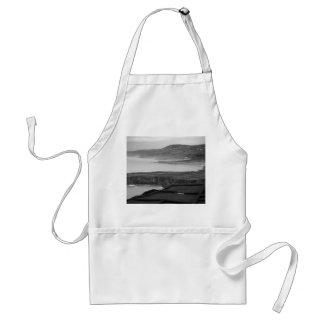 Paysage côtier noir et blanc tablier