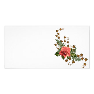 Peach Roses Picture Card