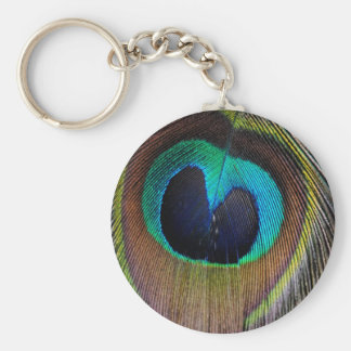 Peacock Feather Key Chain