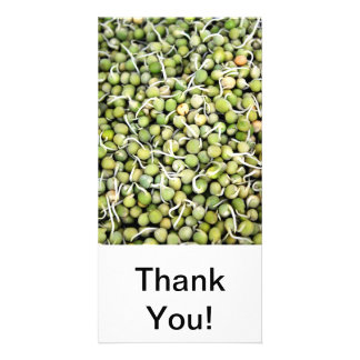 Peas Sprouts Photo Card Template