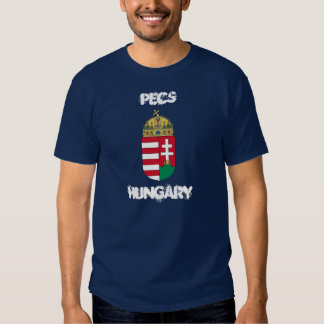 Pecs, Hungary with coat of arms Tshirt