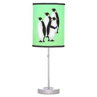 Penguin Using A Cellphone Desk Lamp