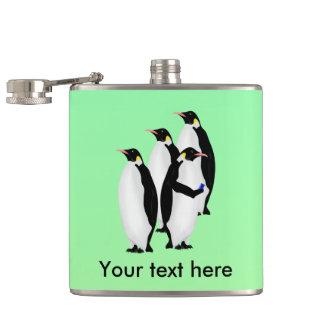 Penguin Using A Cellphone Flasks