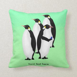 Penguin Using A Cellphone Pillow