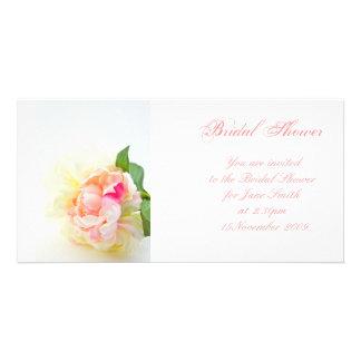 Peonie Bunch 2 - Bridal Shower Invitation Photo Card