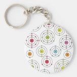 Periodic Shells Basic Round Button Keychain