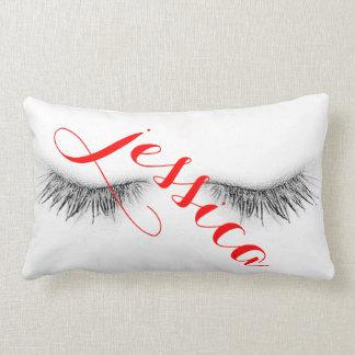 Personalized Eyelashes Design Throw Pillow