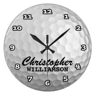 Personalized Golf Ball Wall Clock