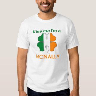 Personalized Irish Kiss Me I'm Mcnally T Shirt