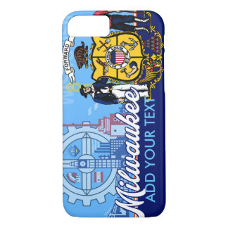 Personalized Milwaukee Wisconsin Flag iPhone 7 Case