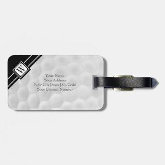 Personalized Monogram Golf Ball Luggage Tag