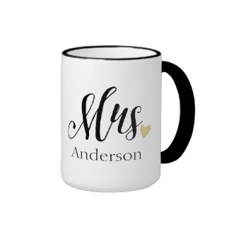 Personalized Mrs. | Bride-to-Be Ringer Coffee Mug