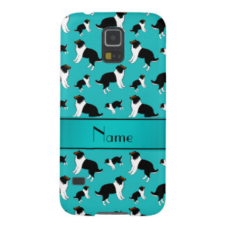 Personalized name turquoise Shetland Sheepdogs Galaxy S5 Covers