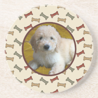 Personalized Pet Photo Dog Bone Custom Picture Coaster