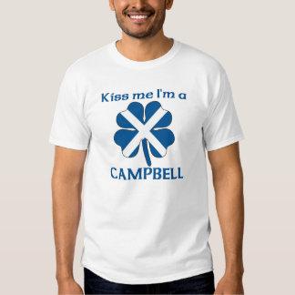 Personalized Scottish Kiss Me I'm Campbell T Shirt