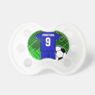 Personalized Soccer Jersey Blue with White Pacifiers