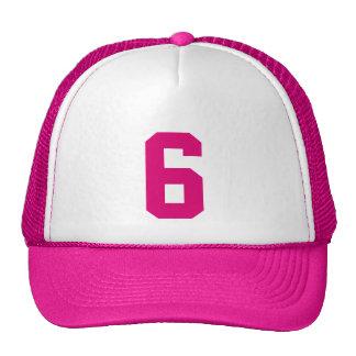 Personnel custom le nombre huit 6 couleur rose casquette de camionneur