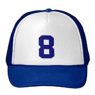 Personnel custom le nombre huit 8 couleur bleue casquette