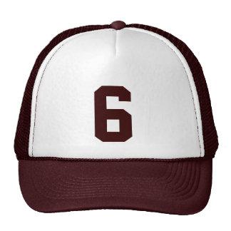 Personnel custom le nombre six 6 couleur marron casquette de camionneur