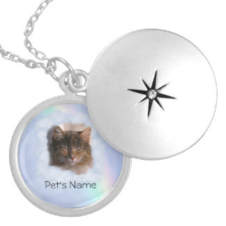 Pet Memory (insert photo & name) Round Locket Necklace