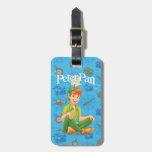 Peter Pan Sitting Down Travel Bag Tags