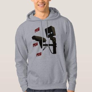 Pew Pew Pew Laser Radar Gun Robot Hooded Sweatshirts