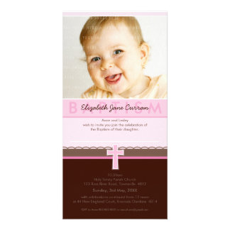 PHOTO BAPTISM INVITATIONS :: pure 2 Picture Card