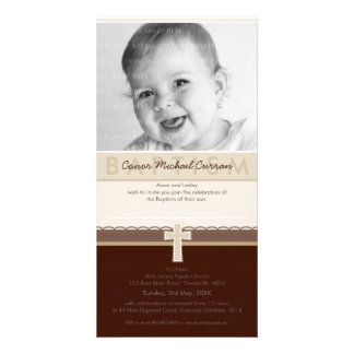 PHOTO BAPTISM INVITATIONS :: pure 7 Photo Greeting Card