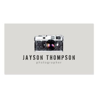 Photographer Vintage Camera Illustration Logo II Business Card