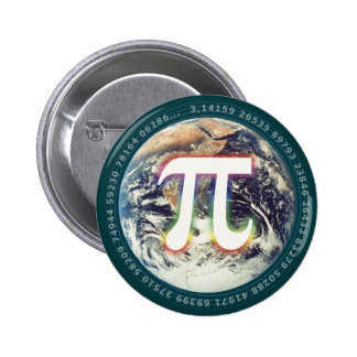Pi Number on Earth | Math 2 Inch Round Button