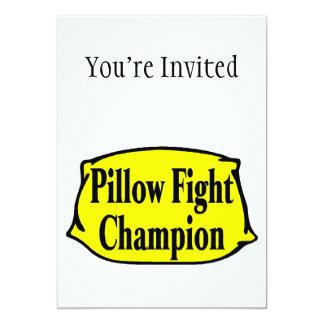 "Pillow Fight Champion 5"" X 7"" Invitation Card"