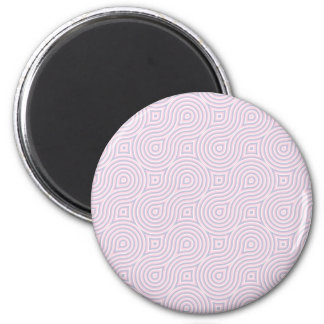 Pink and Gray Figure 8s 2 Inch Round Magnet