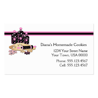 Pink Black Cookie Baking Business Card