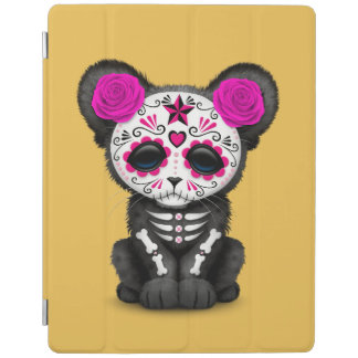 Pink Day of the Dead Sugar Skull Panther Cub iPad Cover