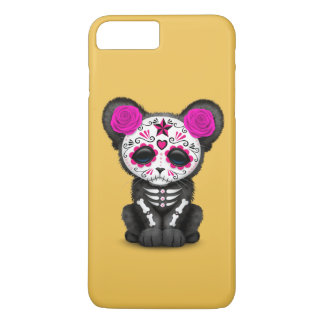 Pink Day of the Dead Sugar Skull Panther Cub iPhone 7 Plus Case