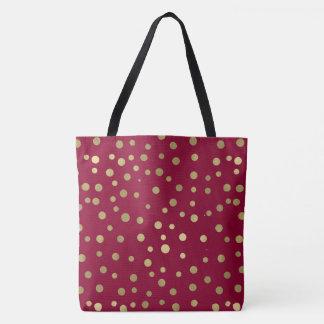 Pink Gold Confetti Tote Bag