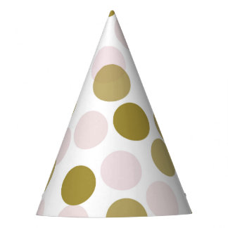 Pink & Gold Festive Polka Dots Confetti Party Hat