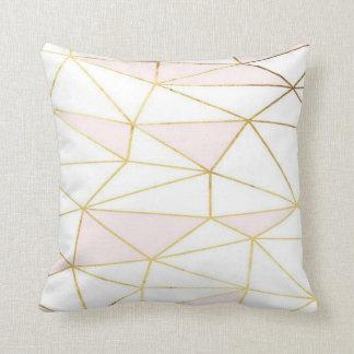 Pink Gold Geometric Pillow